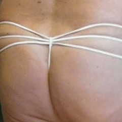 Panty Wearing Mens Cream 3 G-String PL11